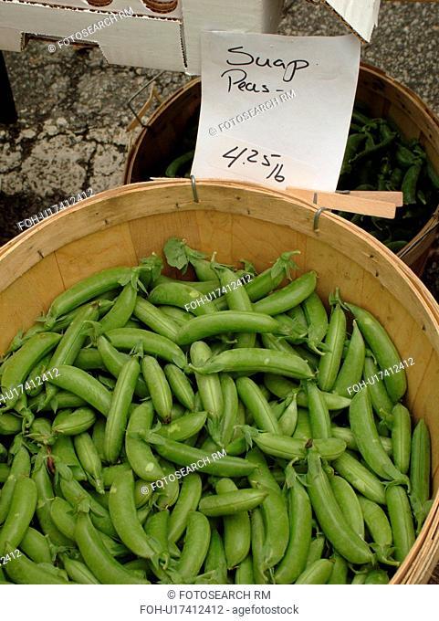 Montpelier, VT, Vermont, Farmer's Market, sugar snap peas