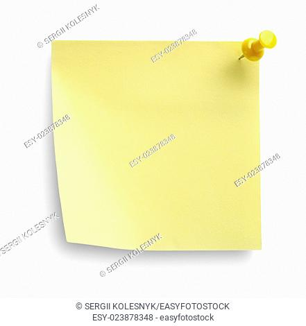 Yellow notebook isolated on a white background. Clipping Path