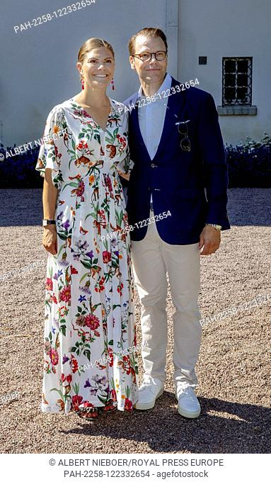 Crown Princess Victoria and Prince Daniel of Sweden at Solliden Palace in Borgholm, on July 14, 2019, to attend the celebrations of Crown Princess Victoria her...