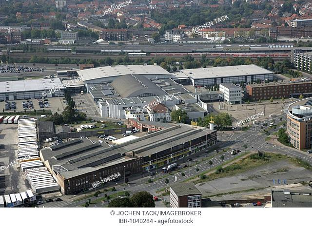 Hallo Muensterland, exhibition-, congress and event centre southeast of the city centre, Muenster, North Rhine-Westphalia, Germany, Europe