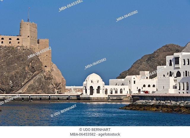 Arabia, Arabian peninsula, Sultanate of Oman, Muscat, Old Muscat, fort Jalali