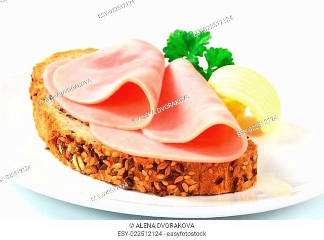 Bread and ham