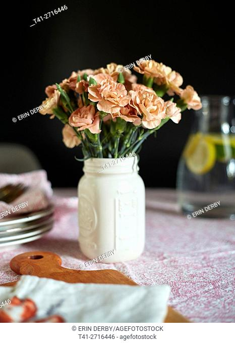 Pink carnations 4