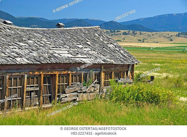 Ranchland barn, Broadwater County, Montana