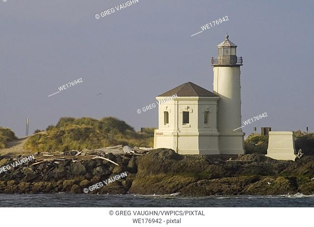 Coquille River Lighthouse in Bandon; Bullards Beach State Park, southern Oregon coast
