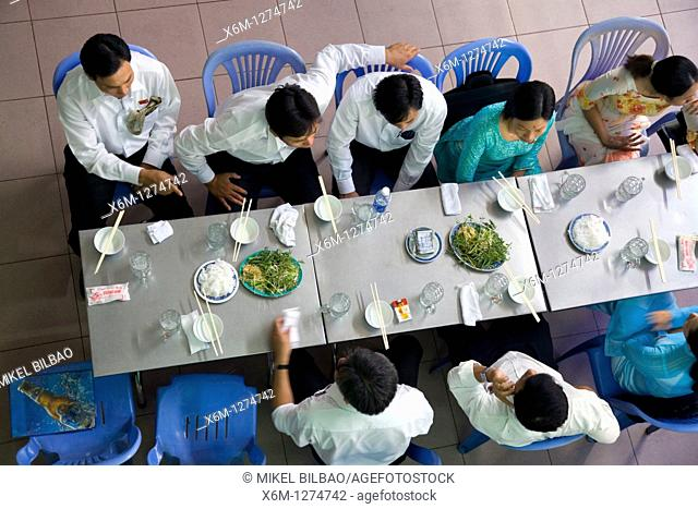 people in a restaurant  Saigon or Ho Chi Minh City, Vietnam, Asia
