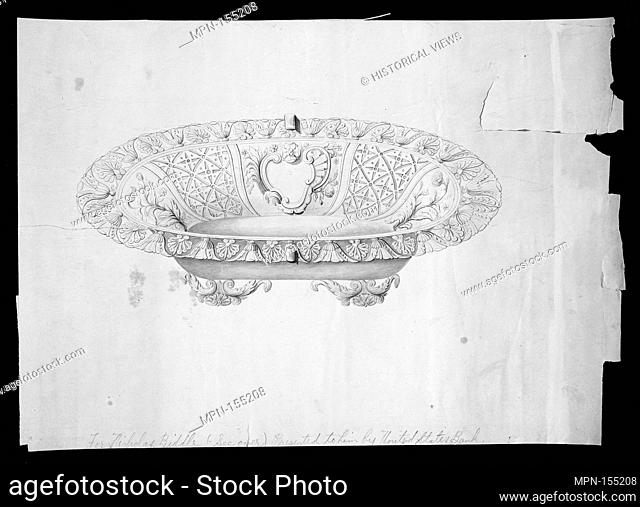 Design for a fruit or bread basket. Artist: Thomas Fletcher (American, Alstead, New Hampshire 1787-1866 New Jersey); Artist: Sidney Gardiner (American