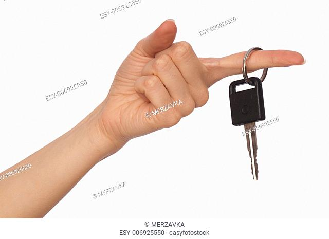 key from big house in the woman's hand