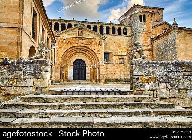 Santa Juliana collegiate church, Santillana del Mar, Cantabria, Spain, Europe