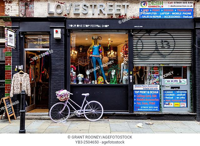 Love Street Clothes and Accessories Shop, Brick Lane, London, England