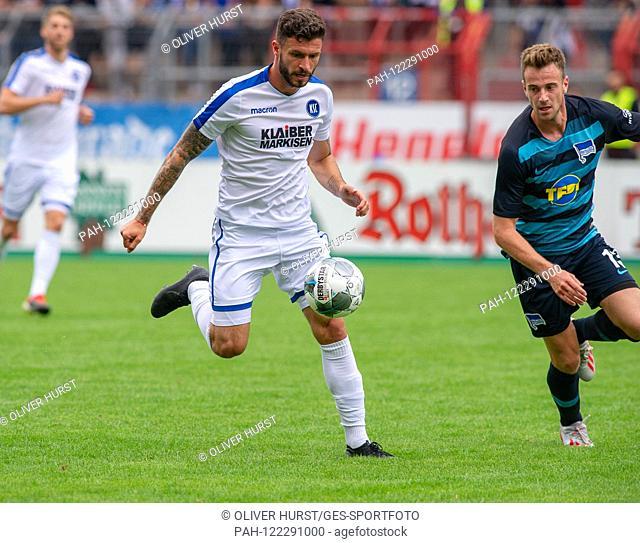Lukas Kluenter (Hertha BSC) vs. GES / Football / KSC Blitz Tournament: Karlsruher SC - Hertha BSC Berlin, 13.07.2019 Football / Soccer: Short Time Tournament:...
