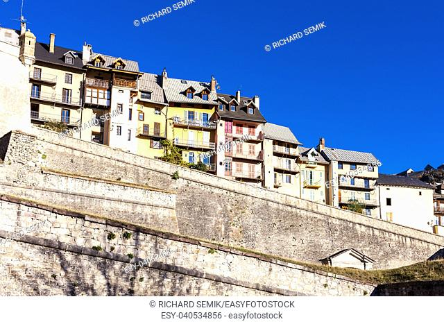 old fortification town Briancon in France