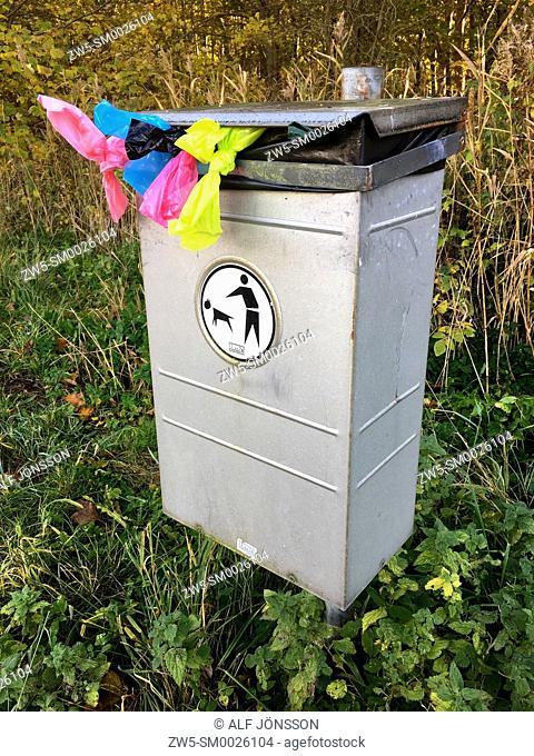 Dog's latrine in Ystad, Scania, Sweden