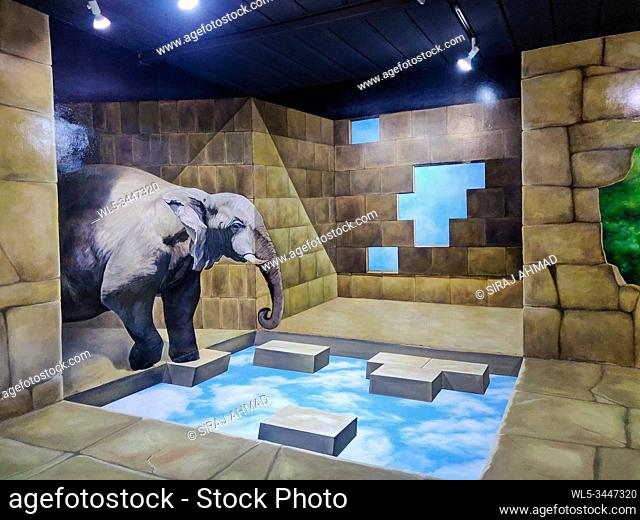 Phuket, Thailand - November 27 2019: Trickeye Museum in Phuket, Thailand