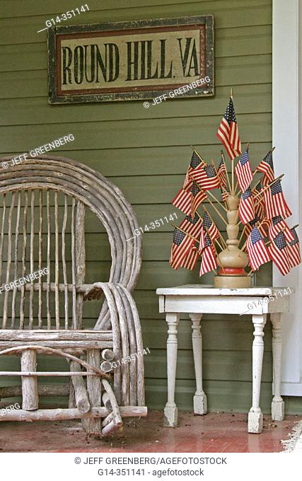 Swell Porch Flag Rocking Chair Stock Photos And Images Age Fotostock Short Links Chair Design For Home Short Linksinfo
