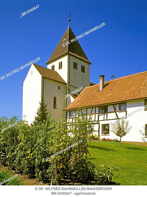 St George collegiate church, Oberzell, Lake Constance, Baden-Wuerttemberg, Germany, Europe