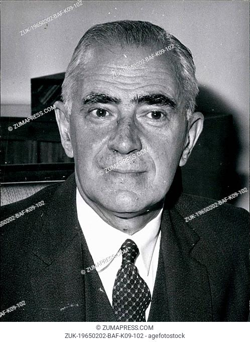 Feb. 02, 1965 - Britain's New Foreign Secretary.. Mr. Michael Stewart.. The New Foreign Secretary in the labour Government is to be Mr