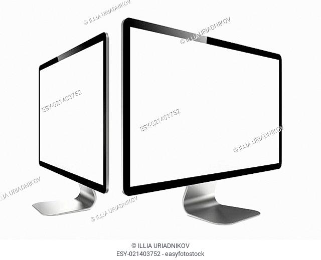 Two Modern Widescreen Lcd Monitor
