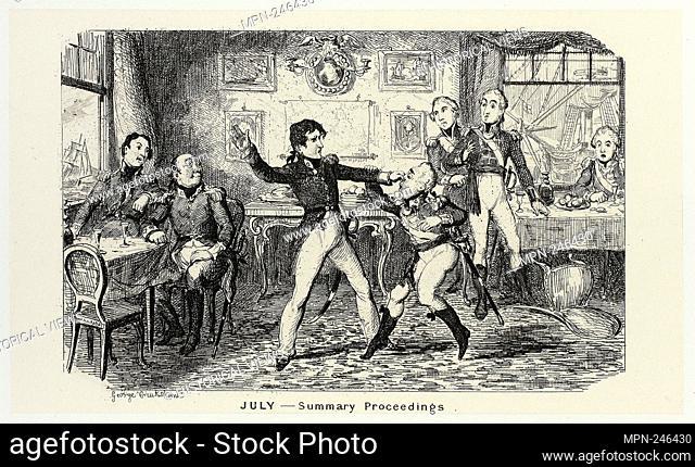 July - Summary Proceedings from George Cruikshank's Steel Etchings to The Comic Almanacks: 1835-1853 - 1839, printed c. 1880 - George Cruikshank (English