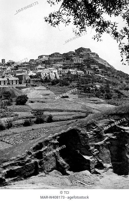 Europe, Italy, Calabria, Vibo Valentia, landscape 1930-40