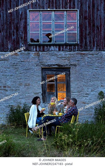 Family relaxing outdoor