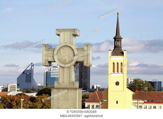 Estonian freedom monument, St. John's Church, Tallinn, Estonia, Europe