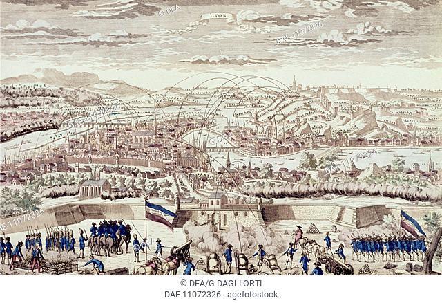 Siege of Lyon, 1793. French Revolution, France, 18th century.  Versailles, Château De Versailles