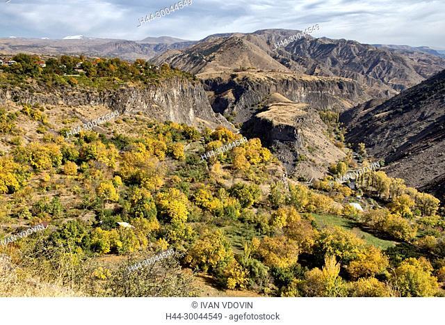 Mountain valley landscape, Garni, Kotayk province, Armenia