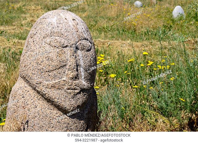 Ancient sculptures, 6th to 10th century in Burana tower area. Balasagun city, Chui province, Kyrgyzstan