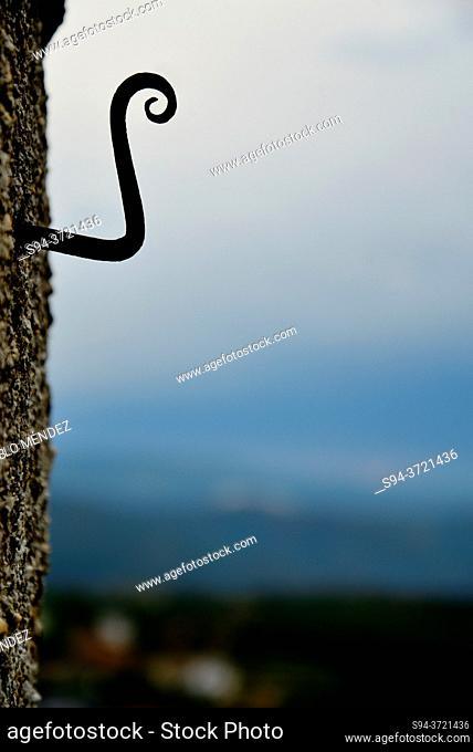 Hook in a wall of castle of O Bolo, Orense, Spain