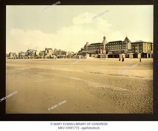 Beach and casino, Malo-les Bains, France. Date between ca. 1890 and ca. 1900