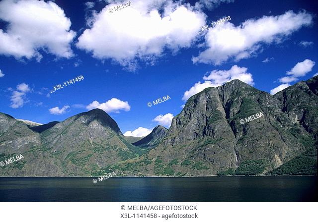 Fiord Sognefjorden Nordfjorden Norway