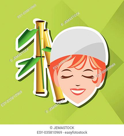 spa center concept with icon design, vector illustration 10 eps graphic