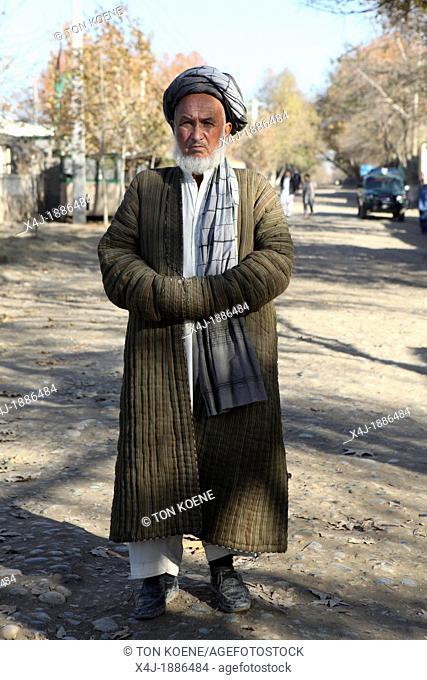 an old afghan man in Kunduz, Afghanistan