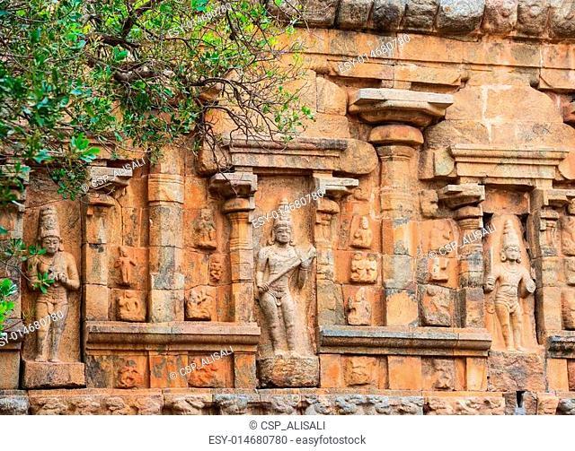element architecture of Hindu Temple ancient Gangaikonda Cholapuram Temple, India, Tamil Nadu, Thanjavur (Trichy)