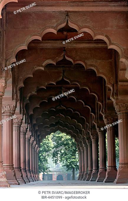Diwan-i-Aam hall, Red Fort, Old Delhi, Delhi, India