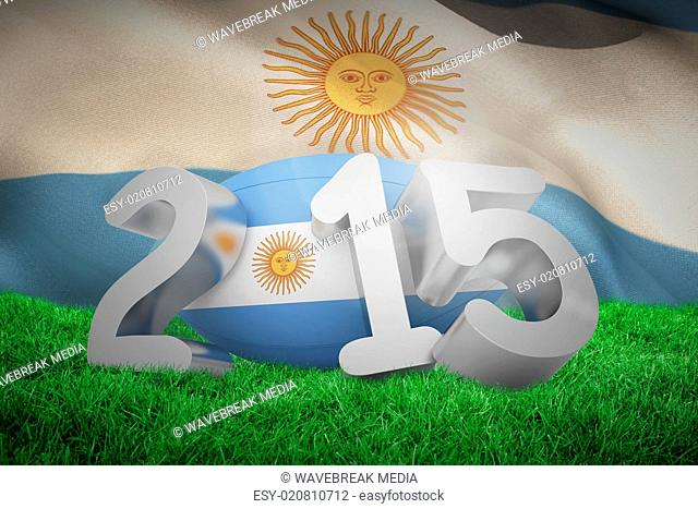 Composite image of argentina rugby 2015 message