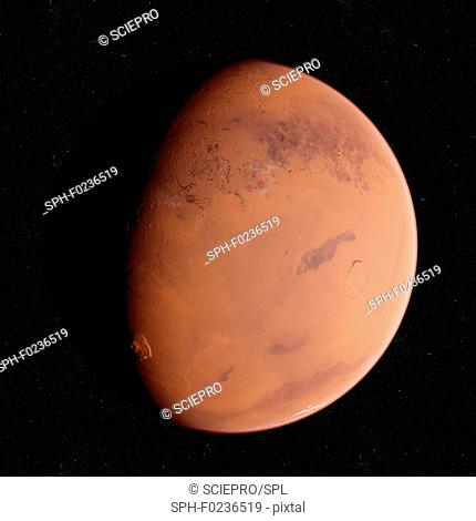 Illustration of Mars