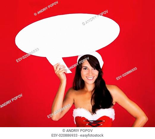 Young Woman With Speech Bubble