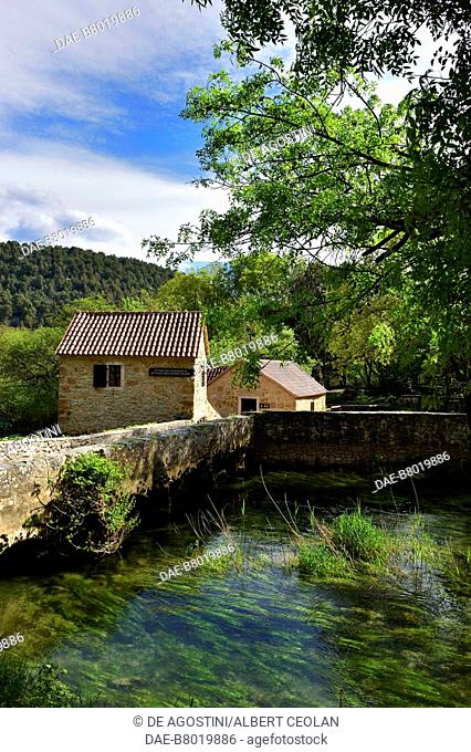 Mills, Skradinski Buk, Krka National Park, Croatia