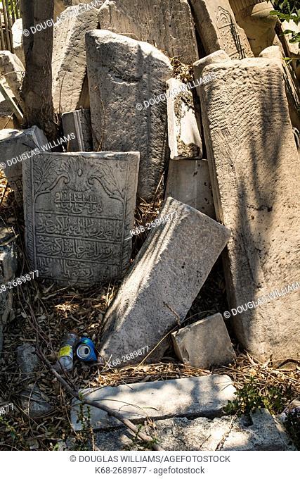 stone tablets, near the archeological museum in Iraklio, Heraklion, Crete, Greece