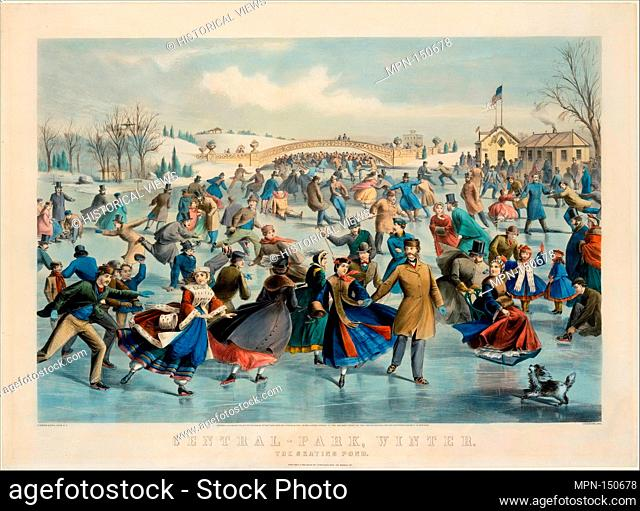 Central Park, Winter - The Skating Pond. Artist: After a painting by Charles Parsons (American (born England), Hampshire 1821-1910 New York); Artist:...