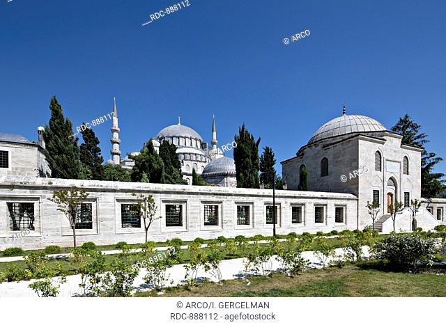 The Suleymaniye Mosque was built on the order of Sultan Suleyman (Suleyman the Magnificent)