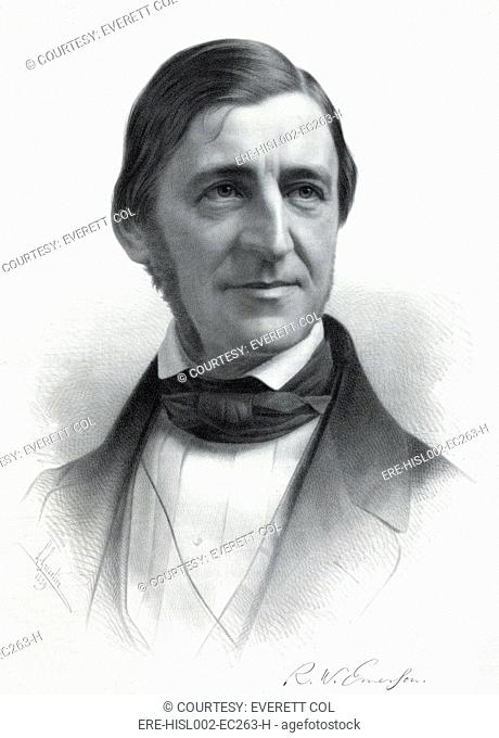 Ralph Waldo Emerson 1803-82 from an original drawing by Sam W. Rowse, ca. 1845
