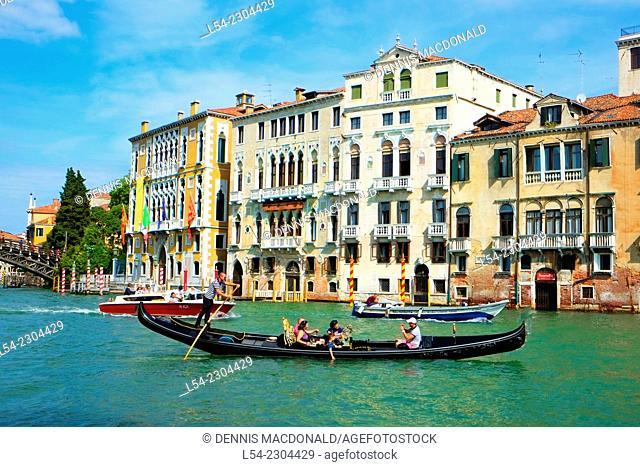 Gondola Venice Italy IT Europe EU Adriatic Sea Grand Canal
