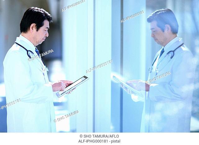 Japanese senior doctor at the hospital