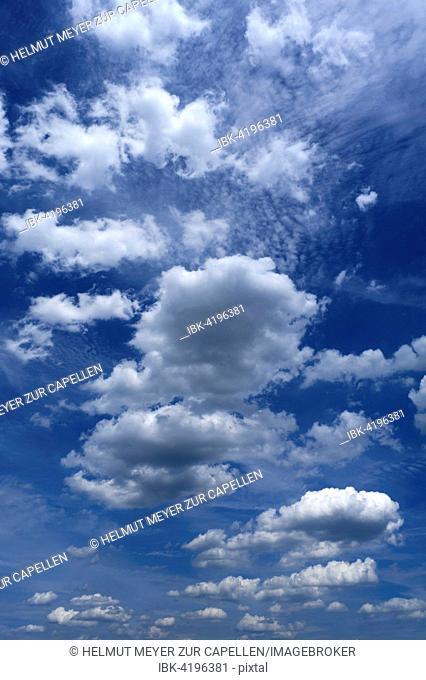 Fair-weather clouds, Cumulus humilis, Bavaria, Germany
