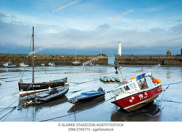 Autumn morning at Newhaven Harbour, Edinburgh, Scotland