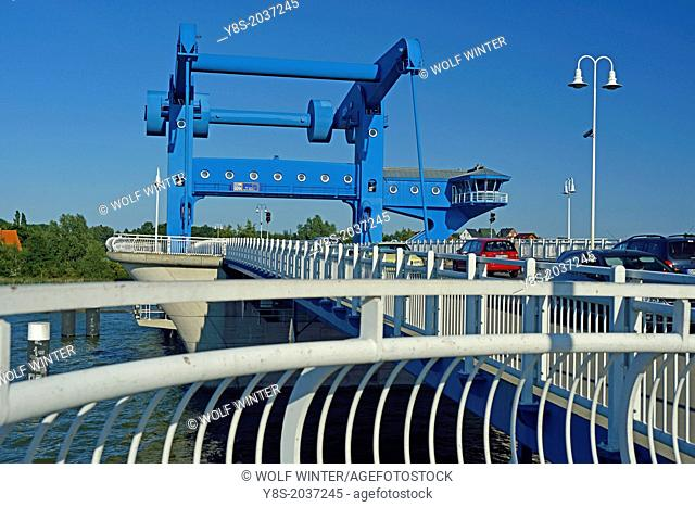 Bridge connecting Usedom Island to the mainland at Wolgast, Germany