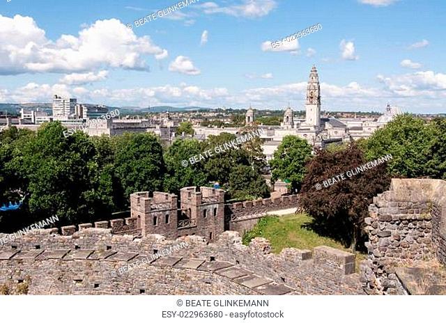 Wales: Ausblick auf Cardiff vom Castle